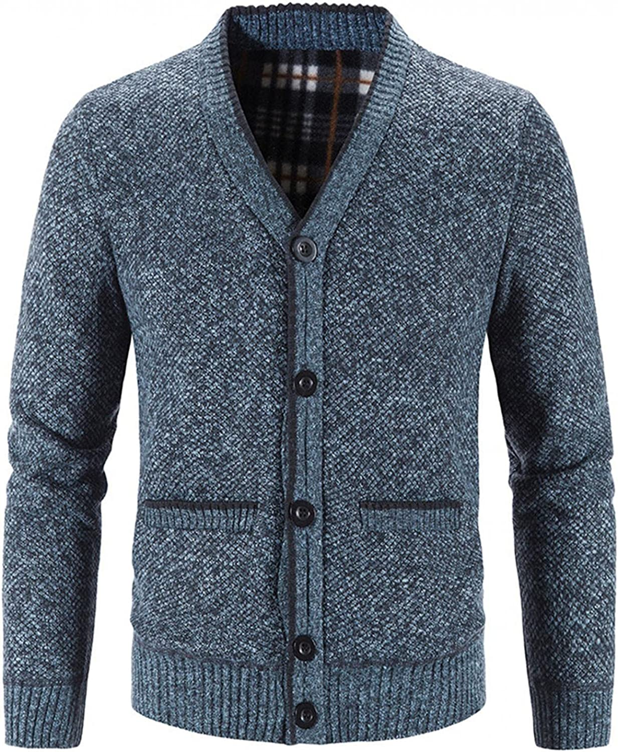 Men Coats free shipping Autumn Winter favorite Solid Open Button Cardigan V-Neck Front