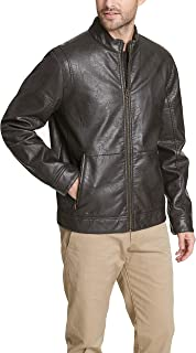 Men's The Dylan Faux Leather Racer Jacket