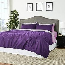 Tache Home Fashion DC46PC-PPF 4-6 Pieces Reversible Duvet Set, Full, Purple