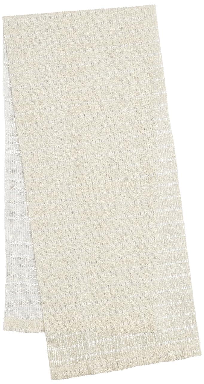 ソフィーブースト彫刻家オーエ ボディタオル ホワイト 約幅20×長さ100cm CB3 絹綿 ナイロンタオル 天然素材100%