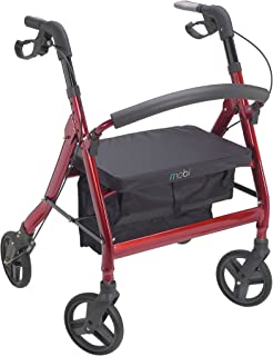 Juvo Heavy-Duty Premium Bariatric Rollator with 400-Pound Capacity and Comfortable 22
