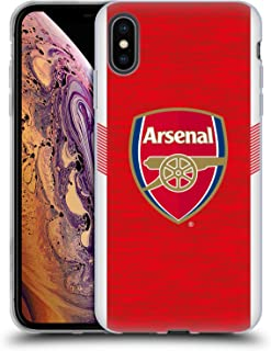 Official Arsenal FC Home 2018/19 Crest Kit Soft Gel Case Compatible for iPhone Xs Max