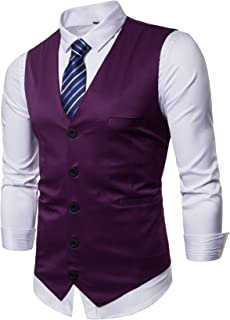 Best dark purple waistcoat Reviews
