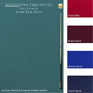 Cotton Farm - Master&Elite Class, Worsted&Woolen Pool Table Felts/Billiard Cloths, Pre-Cut for 7/8/9 Foot Tables, (Include...