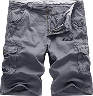 HaiDean Bermuda Men's Cargo Shorts Summer Casual Army Short Cargo Modern Pant with Multi Pocket Solid Colors Movement Work...