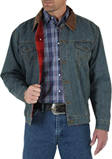 Wrangler Men's Western Style Lined Denim Jacket