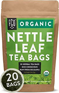 Organic Nettle Leaf Tea Bags | 20 Tea Bags | Eco-Conscious Tea Bags in Foil Lined Kraft Pouch | Raw from Bulgaria | by FGO