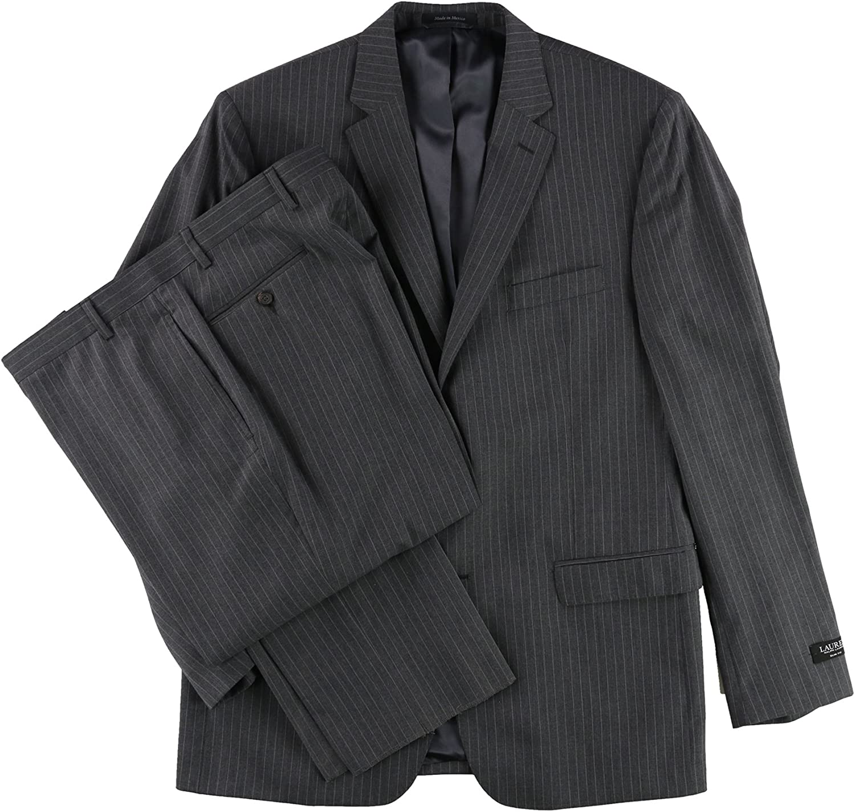 Ralph Lauren Mens Pinstripe Formal Tuxedo, Grey, 46 Long / 40W x 39L