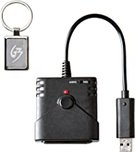 Mcbazel USB Super Converter for Using PS2 Controller Joystick Racing Wheel on Xbox One Console Gaming Adapter with Gam3Gear Keychain