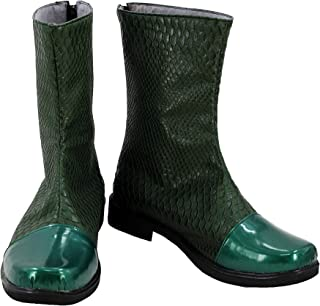 Halloween Adult Men Hero Cosplay Shoes Costume Green Cosplay Boots