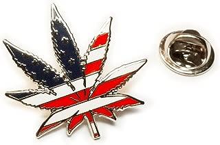 Marijuana 420 USA Flag Medical Pot Weed Medical Hat Jacket Tie Tack Lapel Pin