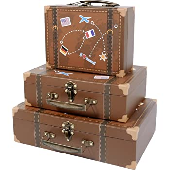 """SLPR Cardboard Small Suitcase Boxes (Set of 3) 