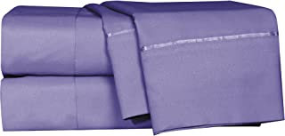 LUSH HOME Bedsheets & Pillow Cases - 6pcs - Super Soft - Fits Extra Thick Mattress Deep Pocket, Wrinkle & Fade Resistant - 6 pc Set - Queen, Purple