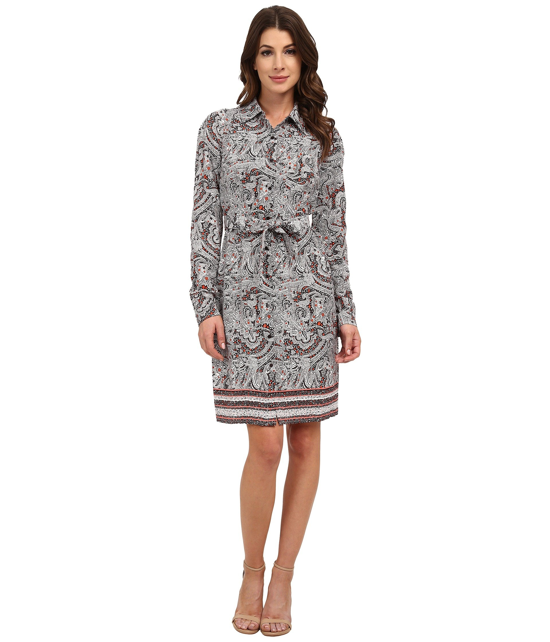 Bernadette Paisley Border Shirt Dress