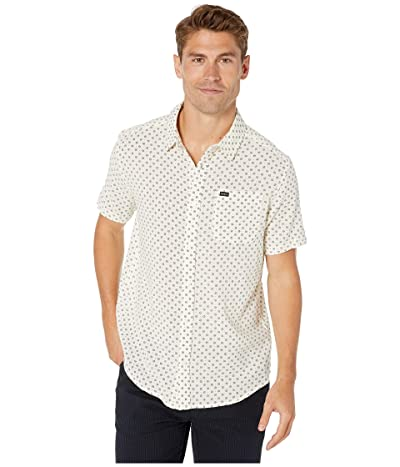 RVCA Gauze Dot Short Sleeve Shirt (Natural) Men