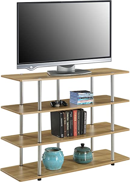 Convenience Concepts Designs2Go Highboy TV Stand X Large Light Oak