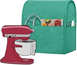 Luxja Dust Cover Compatible with 6-8 Quart Stand Mixer, Cloth Cover with Pockets for Stand Mixer and Extra Accessories (Compatible with All 6-8 Quart Stand Mixer), Green