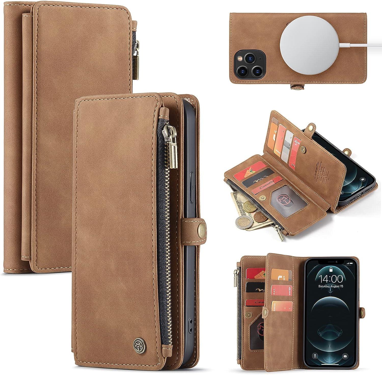 Caseme Magnetic Wallet Case Designed for iPhone 12 Pro Max(6.7