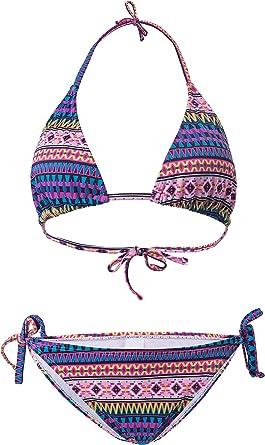 ROSEZUZU Women Halter String Triangle Bikini Tie Triangle Bikini Swimsuits Two Pieces for Women Thong Bathing Suit