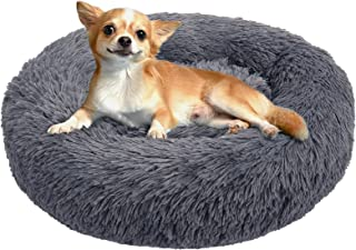 BABYLTRL Dog Bed Cat Bed Donut, Faux Fur Pet Bed Comfortable Cuddler Round, Ultra Soft Calming Dog Bed for Small Medium La...