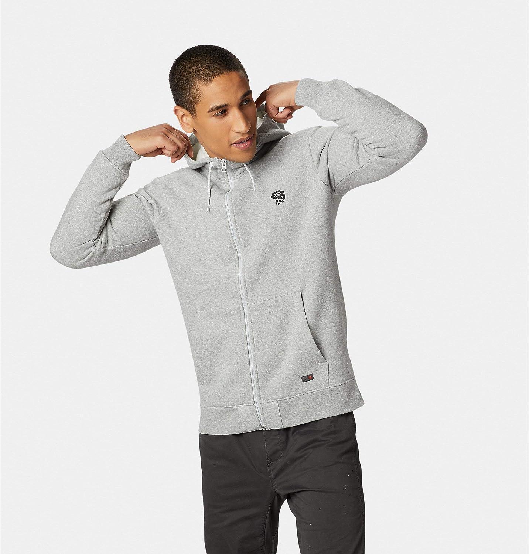 Max Purchase 47% OFF Mountain Hardwear Logo Full Zip Ice Grey Hoody Mens Heather