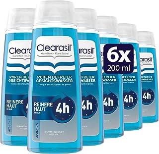 Clearasil Poren Befreier Gesichtswasser, Gegen Pickel und Hautunreinheiten, 6er Pack 6 x 200 ml