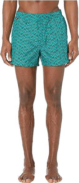 Nylon Printed Chevron Swimsuit