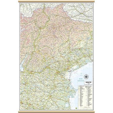 Veneto Regione Cartina.Veneto Carta Regionale Murale 67x100 Cm Belletti Amazon It Cancelleria E Prodotti Per Ufficio