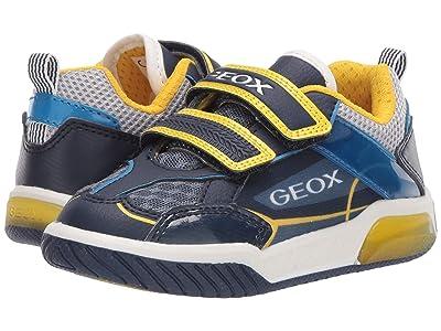 Geox Kids Inek 8 (Toddler/Little Kid) (Navy/Yellow) Boy