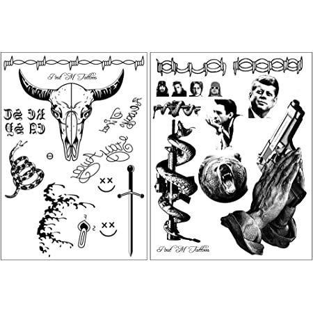 Amazon Com Post Malone Inspired Face And Hand Temporary Tattoos Sheet Beauty