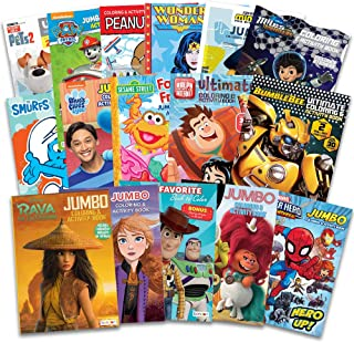 16 Bulk Coloring Books for Kids Ages 4-8 - Assortment Includes 16 Kids Coloring and Activity Books with Games, Puzzles, Ma...