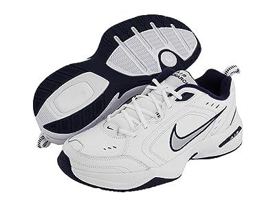 Nike Air Monarch IV (White/Metallic Silver-Midnight Navy) Men