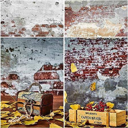 Selens 2in1 Hintergrund 56x88cm Zementmauer Ziegel Kamera