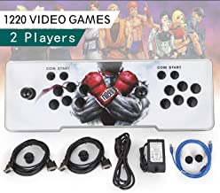 Happybuy Video Game Console, Arcade Machine Over 1500 Latest Classic Games, 2 Players Pandora's Box 9S Multiplayer Home Arcade Console Games All in 1 Non-Jamma PCB Double Stick Newest Design Power HDM