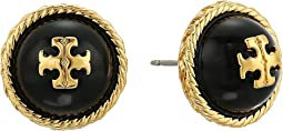 Tory Burch - Rope Pearl Stud Earrings