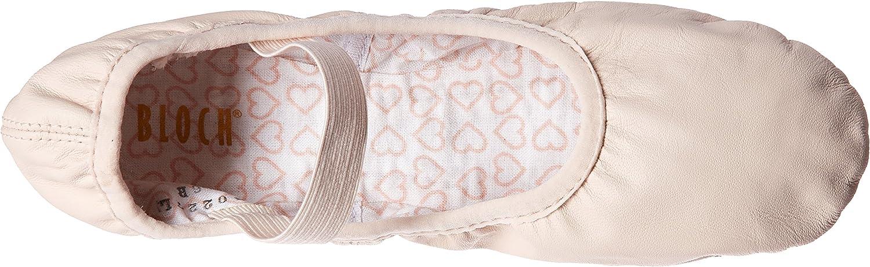 Bloch Women's Dance Belle Full-Sole Leather Ballet Shoe/Slipper, Theatrical Pink, 4 D US