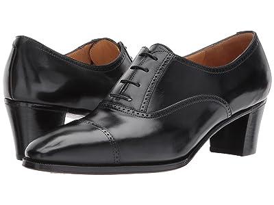 Gravati Mid-Heel Cap Toe Oxford (Black) Women
