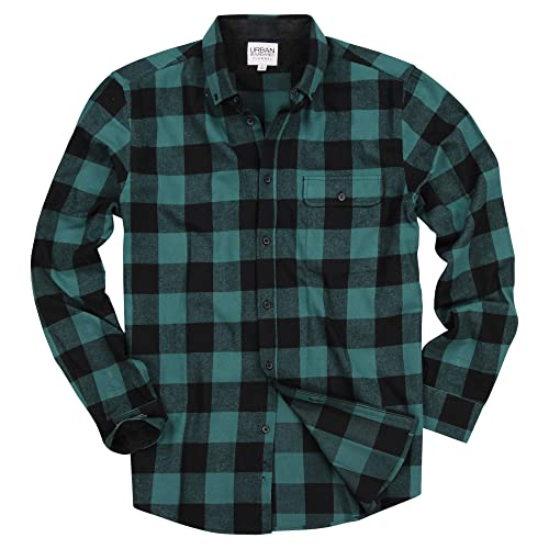 417c5830ebd Urban Boundaries Men s Long Sleeve Flannel Shirt W Point Button-Down Collar  Options