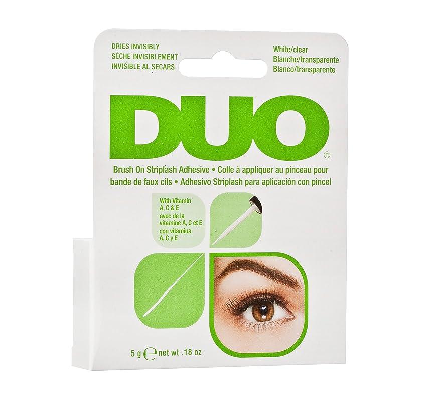 憂鬱モジュール沿ってDUO Brush On Striplash Adhesive White/Clear (並行輸入品)