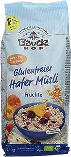 comprar comparacion BauckHof Muesli de Avena con frutas secas - 6 Paquetes de 450 gr - Total: 2700 gr