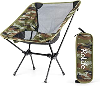 Rolife Camping Folding Chair, Portable Compact Ultralight for Outdoor Furniture, Backpacking Lightweight Chair, Load Beari...