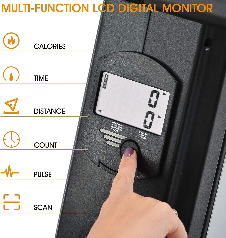 syst/ème de freinage magn/étique silencieux et sans entretien /écran LCD et 8 niveaux Merax Rameur pliable certifi/é T/ÜV