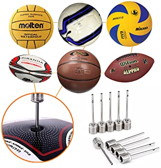 Mobi Lock Ball Pump Needle Pack of 10 | Made with Stainless Steel | Ideal for Blowing Up Football, Basketball, Soccer...