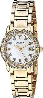 Bulova Women's Quartz Watch with Stainless-Steel Strap, Gold, 13.75 (Model: 98R135)