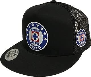 Deportivo Cruz Azul 2 Logos Hat Black Mesh Snapback