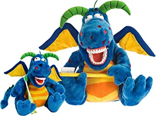StarSmilez Kids Tooth Brushing Dragon Plushies Set Helps Children Learn to Care for Their Mouth and Teeth. Large Al E Gato...