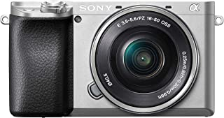 Sony Alpha A6100 Mirrorless Camera with 16-50mm Power Zoom Lens ILCE 6100L with SELP1650 Lens 24.2MP Exmor CMOS Sensor Silver
