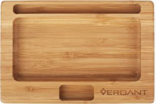 Verdant Bamboo Rolling Tray Small with Cutouts 7.25 in x 4.9 in