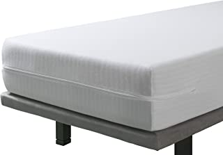 SAVEL - Pack de 2 Fundas de Colchón elásticas y Transpirables   (2X) 90 x 190/200cm   Protector/Cubre colchon Ajustable con Cremallera. Tejido Resistente de algodón. 90cm   Altos hasta 30cm