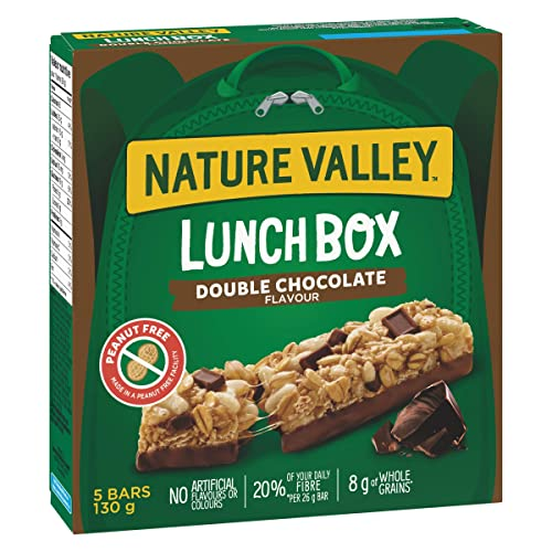 NATURE VALLEY Lunchbox  Double Chocolate Granola Bars, 5-Count, 130 Gram